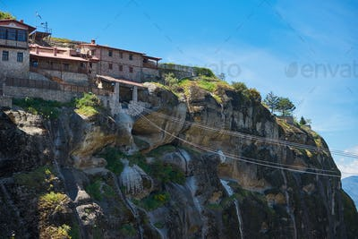 The Monastery of Great Meteoro is the largest monastery at Meteo