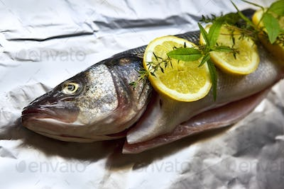 Trout and ingredients