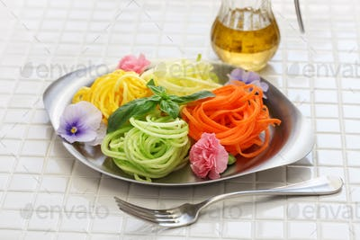 healthy diet vegetable noodles salad