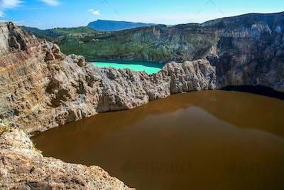 Colorful Kelimutu crater lakes