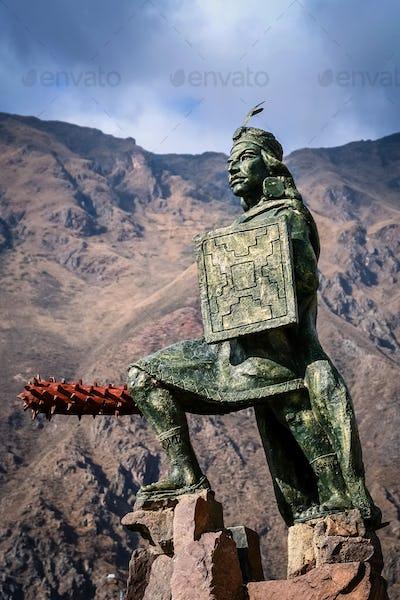 Incan warrior statue