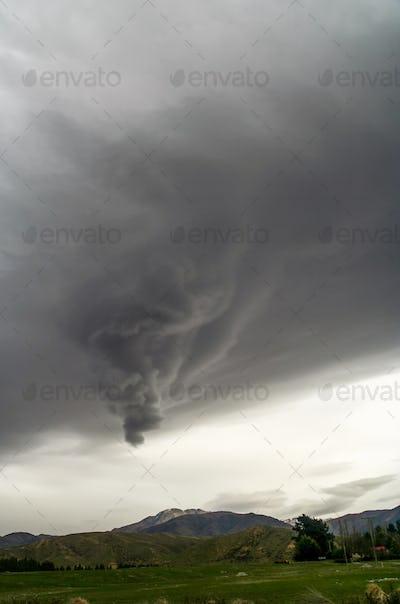 Strange stormy clouds