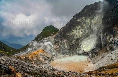 Gunung Sibayak Volcano crater