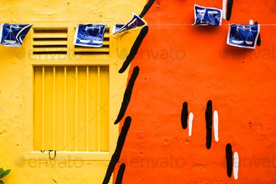 Colourful home wall