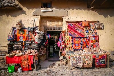 Souvenir shop in Peru