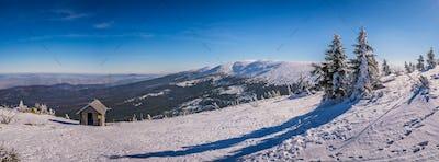 Panoramic view of a Karkonosze mountains