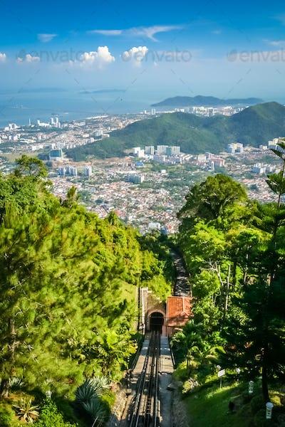 Penang funicular in Penang