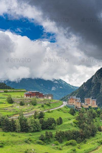 Rural landscape in Andorra.