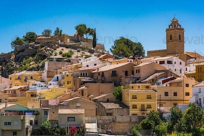 Polop village on hill top, Alicante,Spain
