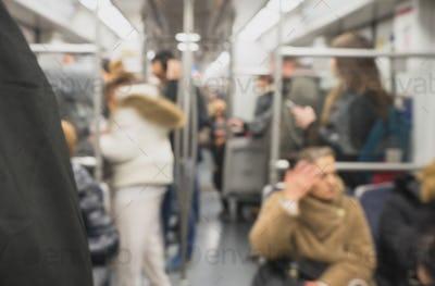 People inside metro train.