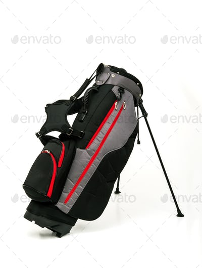 Golf Leather Stand Bag on White Background