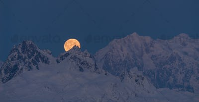Moonrise Mount McKinley Alaska Denali National Park