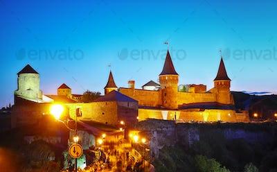 Castle at a moonlight night