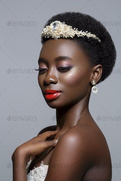 Beautiful black skin bride