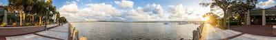 Seamless 360 panorama of Beaufort South Carolina
