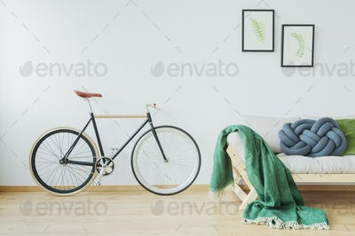 Bike in stylish apartment