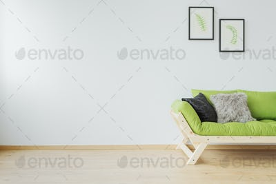 Sofa and copy space
