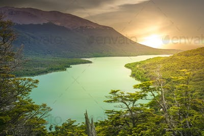 Argentinian green lake
