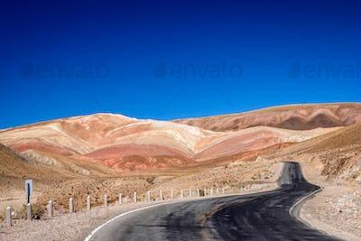 Road through dry land