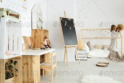 Scandinavian modern interior for girl