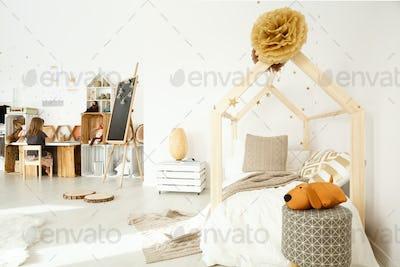 Scandinavian girl's room decor