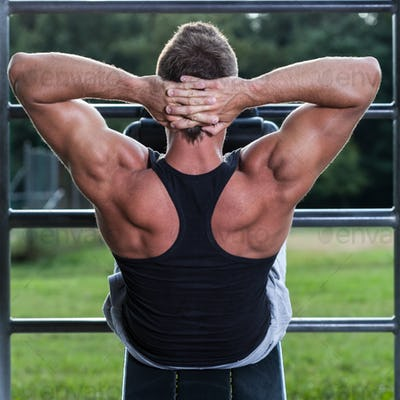 Bodybuilder workout