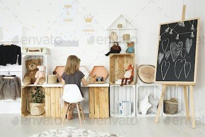 Modern simple interior for girl