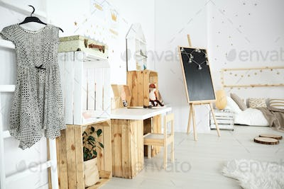 Dreamy bedroom with handmade accessories