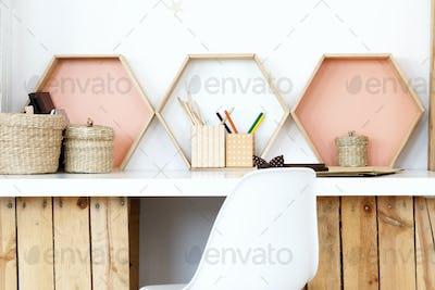 Modern wooden DIY desk
