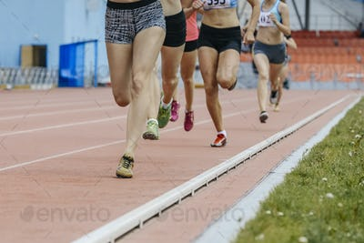 Race Girls 800 Meters in Stadium