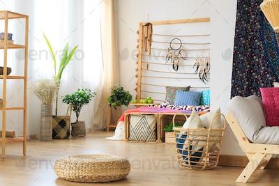 Basket and footrest