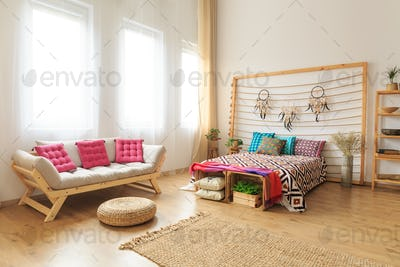 Photo of bed and couch