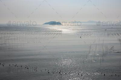 xiapu beach landscape at dusk