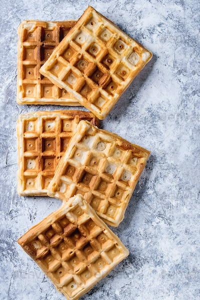 Empty Belgian waffles