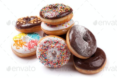 Donuts with colorful decor