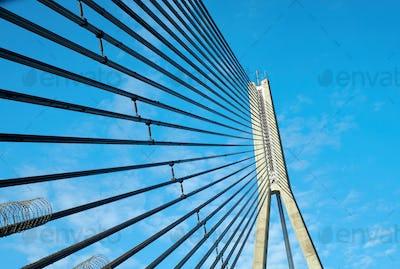 Close up of bridge, Riga