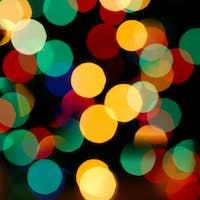multicolored holiday bokeh