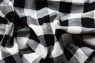 close up of checkered fabric or clothing item