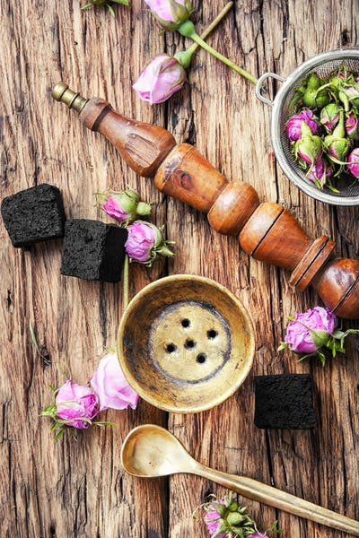 hooka with taste of tea-rose