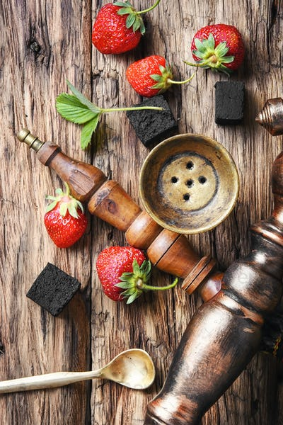 Turkish hookah with strawberry