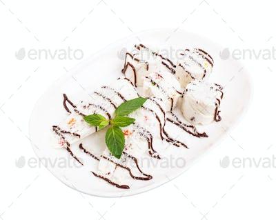 Oriental delicious nougat dessert.