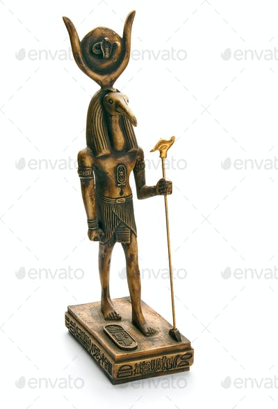 Egyptian Statue, isolated on white background