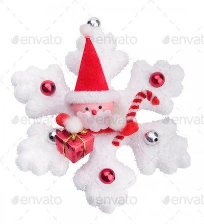 Christmas snowflake, isolated on white background