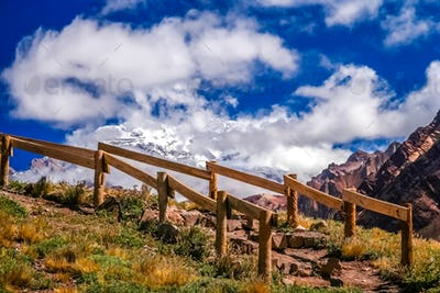 Trekking path to Aconcagua