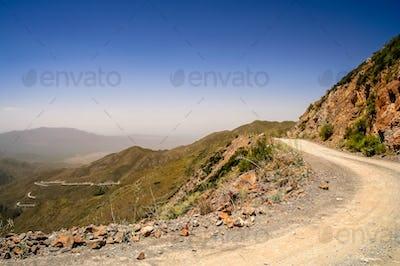 Mountain Road from Termas Villevicencio in Argentina