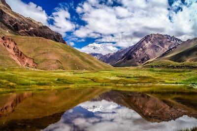 Aconcagua pond reflection