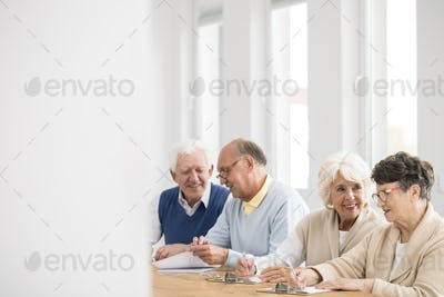 Seniors talking during break