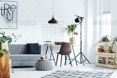 Minimalistic studio flat