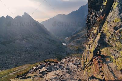 Mountain landscape view in High Tatras, Slovakia