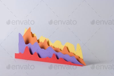 Business graphics isolated over grey background.